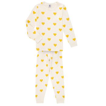 Υφασμάτινα Κορίτσι Πιτζάμα/Νυχτικό Petit Bateau LERINU Άσπρο / Yellow