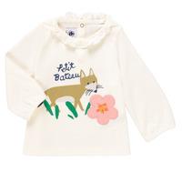 Υφασμάτινα Κορίτσι Μπλουζάκια με μακριά μανίκια Petit Bateau ENLEVE Άσπρο