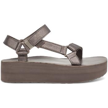 Παπούτσια Γυναίκα Σανδάλια / Πέδιλα Teva Flatform Universal Leather Women's Metallic Bronze