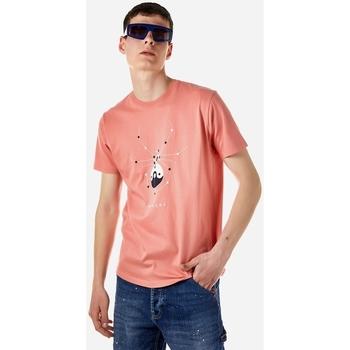 Υφασμάτινα Άνδρας T-shirt με κοντά μανίκια Brokers ΑΝΔΡΙΚΟ T-SHIRT Ροζ