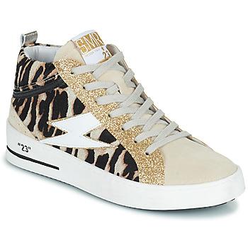 Παπούτσια Γυναίκα Ψηλά Sneakers Semerdjian CIELLO Beige / Gold