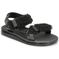 Παπούτσια Γυναίκα Σανδάλια / Πέδιλα Melissa MELISSA PAPETTE FLUFFY RIDER AD Black