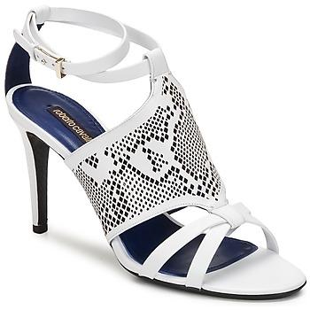 Παπούτσια Γυναίκα Σανδάλια / Πέδιλα Roberto Cavalli TPS016 Άσπρο