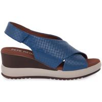 Παπούτσια Γυναίκα Σανδάλια / Πέδιλα Pepe Menargues JEANS VACUNO Blu