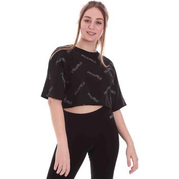 Υφασμάτινα Γυναίκα T-shirt με κοντά μανίκια Fila 683304 Μαύρος