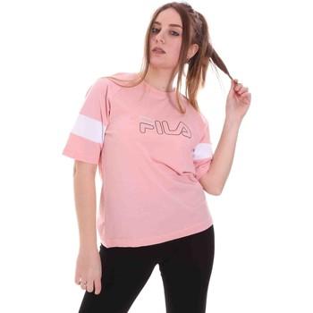 Υφασμάτινα Γυναίκα T-shirt με κοντά μανίκια Fila 683283 Ροζ