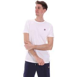 Υφασμάτινα Άνδρας T-shirt με κοντά μανίκια Fila 688567 λευκό
