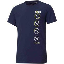 Υφασμάτινα Παιδί T-shirt με κοντά μανίκια Puma 585855 Μπλε