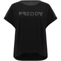 Υφασμάτινα Γυναίκα T-shirt με κοντά μανίκια Freddy S1WTBT3 Μαύρος