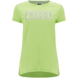 Υφασμάτινα Γυναίκα T-shirt με κοντά μανίκια Freddy S1WCLT2 Πράσινος