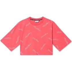 Υφασμάτινα Κορίτσι T-shirt με κοντά μανίκια Fila 683349 Ροζ
