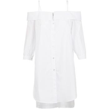 Υφασμάτινα Γυναίκα Πουκάμισα Café Noir JC6260 λευκό