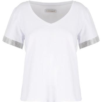 Υφασμάτινα Γυναίκα T-shirt με κοντά μανίκια Café Noir JT6490 λευκό