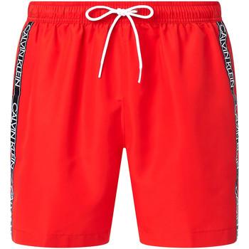 Υφασμάτινα Άνδρας Μαγιώ / shorts για την παραλία Calvin Klein Jeans KM0KM00558 το κόκκινο