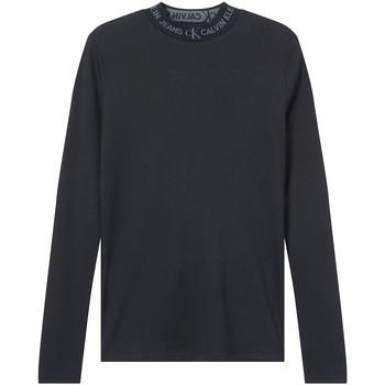 Υφασμάτινα Γυναίκα Μπλουζάκια με μακριά μανίκια Calvin Klein Jeans J20J215228 Μαύρος