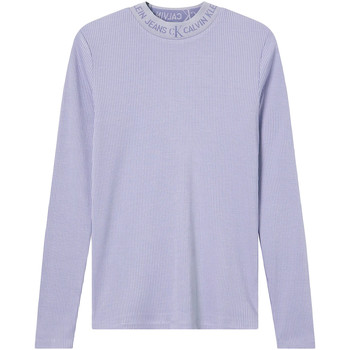 Υφασμάτινα Γυναίκα Μπλουζάκια με μακριά μανίκια Calvin Klein Jeans J20J215228 Βιολέτα