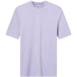 Υφασμάτινα Γυναίκα T-shirt με κοντά μανίκια Calvin Klein Jeans J20J215230 Βιολέτα