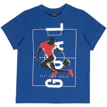 Υφασμάτινα Παιδί T-shirt με κοντά μανίκια Chicco 09067134000000 Μπλε
