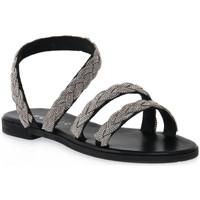 Παπούτσια Γυναίκα Σανδάλια / Πέδιλα Mosaic NERO BRAIDS Nero