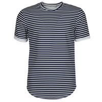 Υφασμάτινα Άνδρας T-shirt με κοντά μανίκια Yurban ORICO Marine / Άσπρο