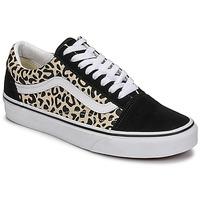 Παπούτσια Γυναίκα Χαμηλά Sneakers Vans OLD SKOOL Black / Beige