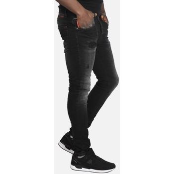 Υφασμάτινα Άνδρας Skinny jeans Brokers ΑΝΔΡΙΚΟ ΠΑΝΤΕΛΟΝΙ JEAN  ΜΑΥΡΟ ΞΕΒΑΜΜΕΝΟ Μαύρο
