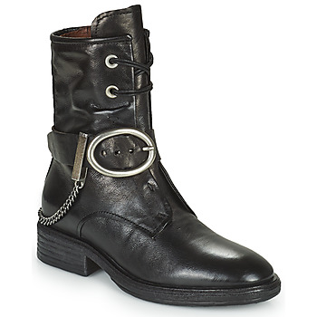 Παπούτσια Γυναίκα Μπότες Airstep / A.S.98 FLOWER BUCKLE Black