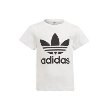 Υφασμάτινα Παιδί T-shirt με κοντά μανίκια adidas Originals FLORE Άσπρο