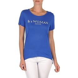 Υφασμάτινα Γυναίκα T-shirt με κοντά μανίκια School Rag TEMMY WOMAN μπλέ