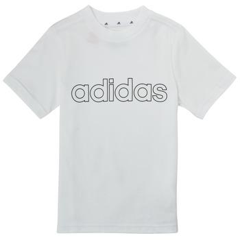 Υφασμάτινα Αγόρι T-shirt με κοντά μανίκια adidas Performance ALBA Άσπρο