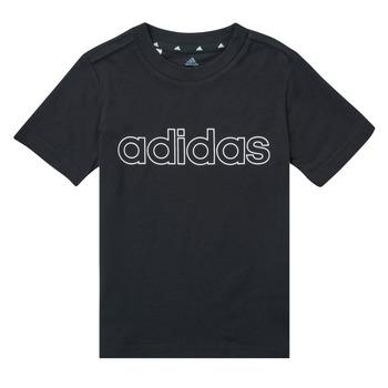 Υφασμάτινα Αγόρι T-shirt με κοντά μανίκια adidas Performance SAMINA Black