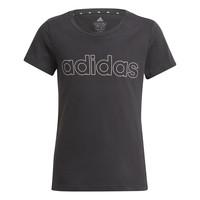 Υφασμάτινα Κορίτσι T-shirt με κοντά μανίκια adidas Performance PLAKAT Black