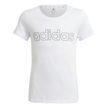 Υφασμάτινα Κορίτσι T-shirt με κοντά μανίκια adidas Performance HOLLIA Άσπρο