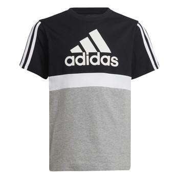 Υφασμάτινα Αγόρι T-shirt με κοντά μανίκια adidas Performance MOULITA Grey / Black