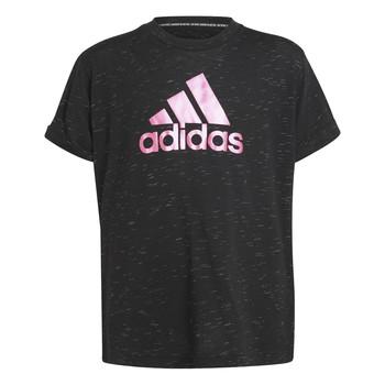 Υφασμάτινα Κορίτσι T-shirt με κοντά μανίκια adidas Performance MONICA Black