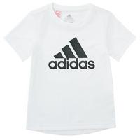 Υφασμάτινα Αγόρι T-shirt με κοντά μανίκια adidas Performance NADEGE Άσπρο