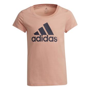 Υφασμάτινα Κορίτσι T-shirt με κοντά μανίκια adidas Performance ALBERIC Ροζ