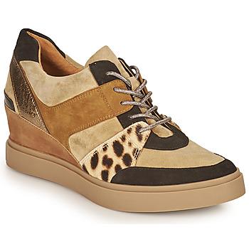 Παπούτσια Γυναίκα Χαμηλά Sneakers Mam'Zelle PERRY Beige / Black / Leopard