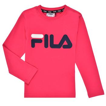 Υφασμάτινα Κορίτσι Μπλουζάκια με μακριά μανίκια Fila ESPIN Ροζ