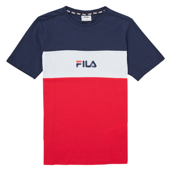 Υφασμάτινα Κορίτσι T-shirt με κοντά μανίκια Fila TEKANI Red / Marine