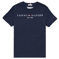 Υφασμάτινα Αγόρι T-shirt με κοντά μανίκια Tommy Hilfiger SELINERA Marine
