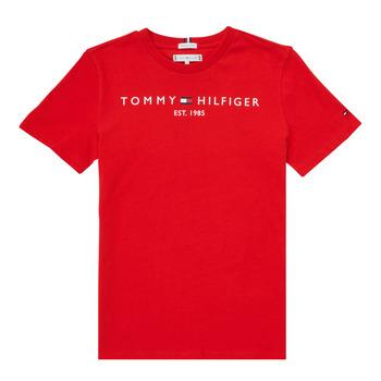 Υφασμάτινα Αγόρι T-shirt με κοντά μανίκια Tommy Hilfiger SELINERA Red