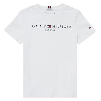 Υφασμάτινα Αγόρι T-shirt με κοντά μανίκια Tommy Hilfiger SELINERA Άσπρο