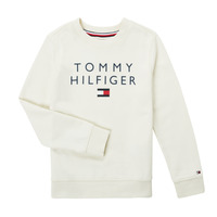 Υφασμάτινα Αγόρι Φούτερ Tommy Hilfiger HERTINA Άσπρο