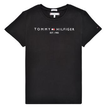 Υφασμάτινα Κορίτσι T-shirt με κοντά μανίκια Tommy Hilfiger QUANFI Black
