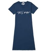 Υφασμάτινα Κορίτσι Κοντά Φορέματα Tommy Hilfiger POLINE Marine