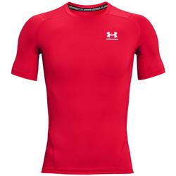 Υφασμάτινα Άνδρας T-shirt με κοντά μανίκια Under Armour Heatgear Armour Short Sleeve Rouge