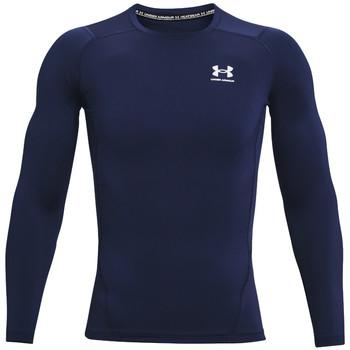 Υφασμάτινα Άνδρας Μπλουζάκια με μακριά μανίκια Under Armour Heatgear Armour Long Sleeve Bleu marine