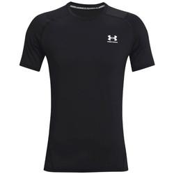 Υφασμάτινα Άνδρας T-shirt με κοντά μανίκια Under Armour Heatgear Armour Fitted Short Sleeve Noir