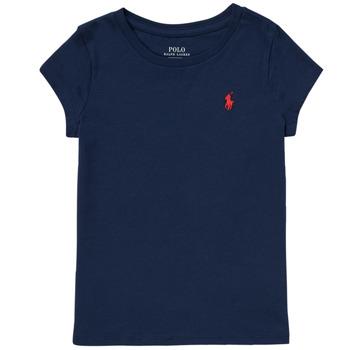 Υφασμάτινα Κορίτσι T-shirt με κοντά μανίκια Polo Ralph Lauren DRETU Marine